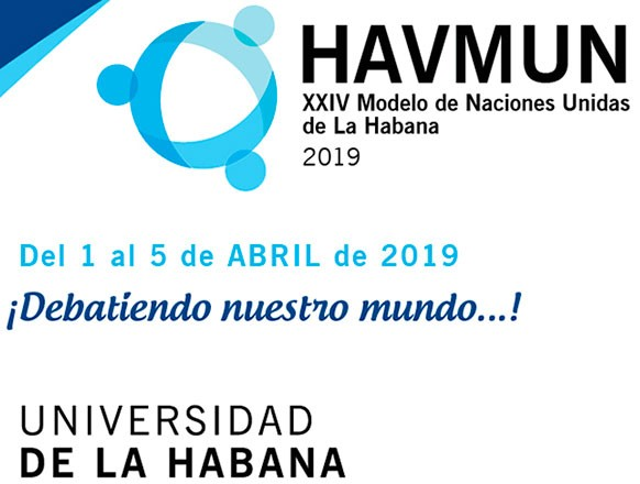 Eventos en Cuba - XXIV Edición del Modelo de Naciones Unidas de La Habana