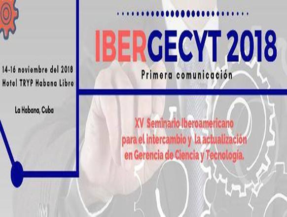 Event - XV Seminario Iberoamericano para el intercambio y  la actualización  en Gerencia de Ciencia y Tecnología